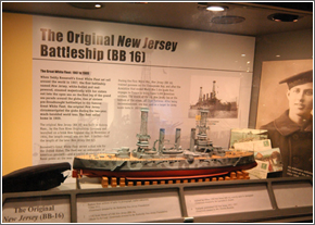 Scale model of the orignial Battleship New Jersey