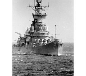 BB-62 at sea