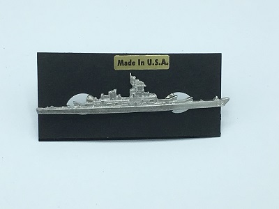 Web Battleship Pin Silver