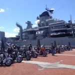 Bikes participating in the All American Run, Sunday, April 24, will get preferred parking -- the Pier of the Battleship!