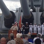 WWII USS New Jersey Vet's Remarks Highlight Battleship's 73rd Anniversary of Commissioning Ceremony