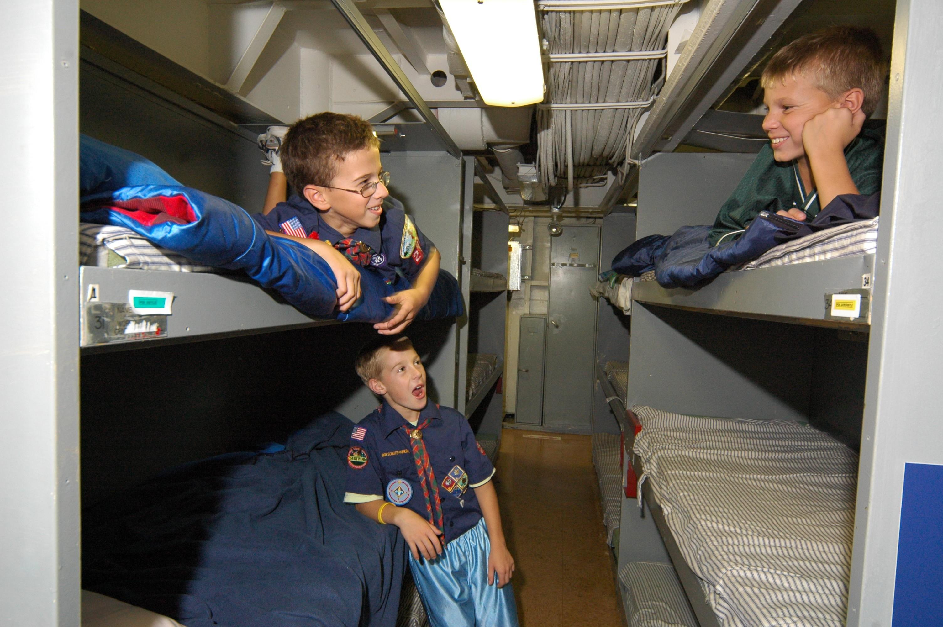 Image result for Battleship NJ Cub Scout Sleeping