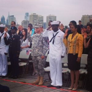 Naturalization and Wreath Ceremony on Memorial Day aboard the Big J @ Battleship New Jersey  | Camden | New Jersey | United States