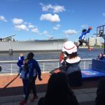 Sixers Phlight Squad Performs at the Battleship