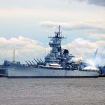 Battleship shoot from portside