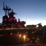 Battleship Lit Pink for Breast Cancer Awareness
