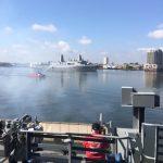 USS Murtha salute