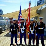 72nd Anniversary of Commissioning honor guard