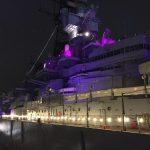 Battleship Lit Purple for Pancreatic Cancer Awareness in November