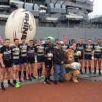 NCAA College Rugby Teams' Demonstration at Battleship