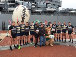 College Rugby Squads Demonstration at the Battleship