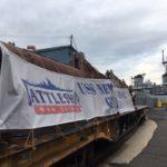 16-Inch Gun Barrels Arrive at the Battleship