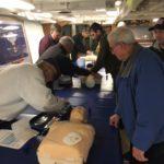 First Aid Training Aboard the Battleship