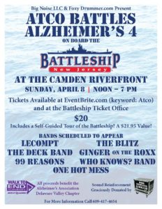 Atco Battles Alzheimer's 4 on the Battleship @ Battleship New Jersey  | Camden | New Jersey | United States