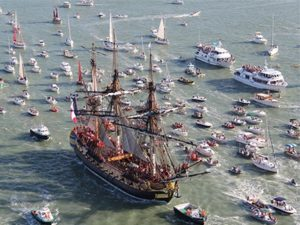 Watch the Parade of Tall Ships from the Battleship @ Battleship New Jersey  | Camden | New Jersey | United States