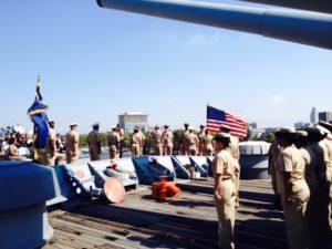 US Navy Chiefs MIA/POW Ceremony @ Battleship New Jersey  | Camden | New Jersey | United States