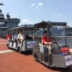 Ride the Battleship Concierge Cart Safely Along the Waterfront Promenade for Free