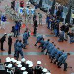 BATTLESHIP NEW JERSEY HOSTS ARMY V. NAVY IN TUG-OF-WAR
