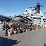 Police K9 Trainers aboard the Battleship
