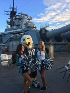 Eagles' Swoop and Cheerleaders Aboard the Battleship on Saturday @ Battleship New Jersey