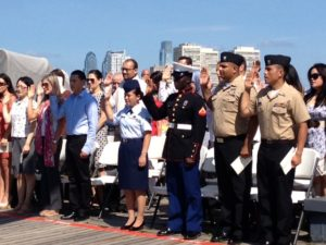 Naturalization Ceremony Aboard the Battleship @ Battleship New Jersey