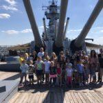 Home Schoolers Enjoy a Group Tour of the Battleship