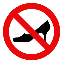 No high-heels sign.