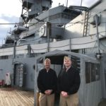 Battleship Welcomes CO and Chief of PCU New Jersey