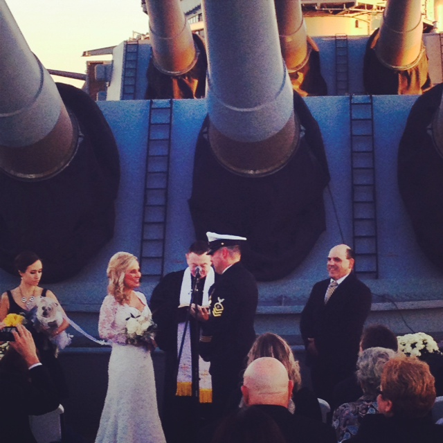 A wedding on the ship