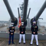 USMC Lt. Mills Promotion Ceremony Aboard the Battleship