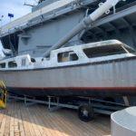 Captain's Gig Back Aboard the Battleship