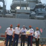 Battleship Presents Flag Flown Above the Ship to Northampton Co. Marine Corps League