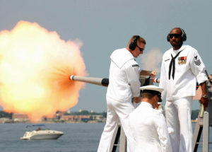 Virtually Fire the Battleship's Portside Saluting Gun @ Battleship New Jersey