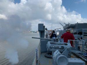 Virtually Fire the Battleship's Portside Saluting Gun @ Battleship New Jersey