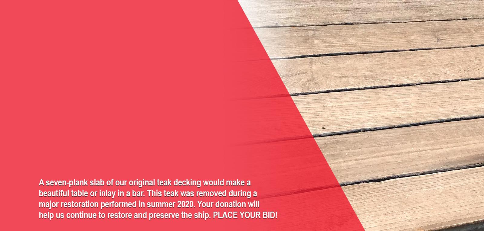 Teak Deck Auction