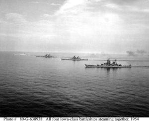 Four Iowa Class Battleships