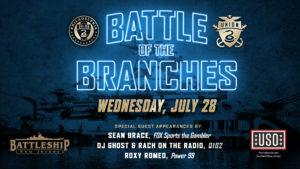 Philadelphia Union Presents Battle of the Branches Soccer Tourney on Battleship @ Battleship New Jersey