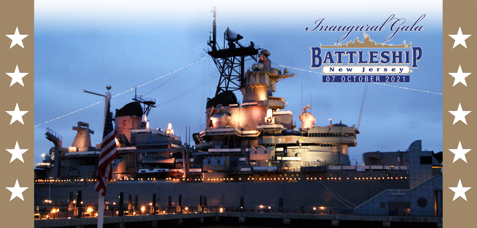Inaugural Gala on the Battleship NJ October 7 2021